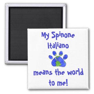 Imán - mi Spinone Italiano significa el mundo
