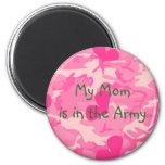Imán militar del camuflaje del rosa de la mamá