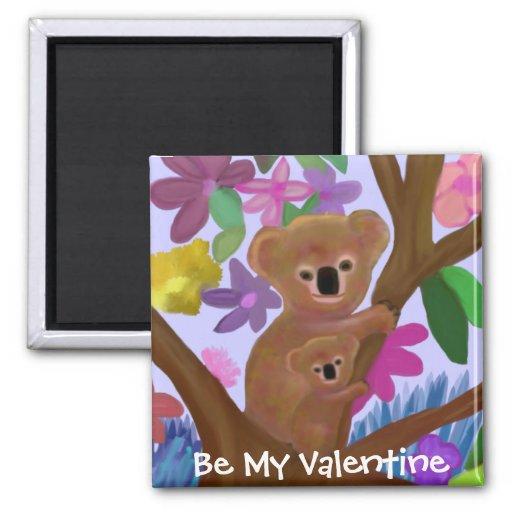 Imán mimoso de la tarjeta del día de San Valentín
