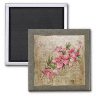 Imán minúsculo de la impresión floral 03 del vinta