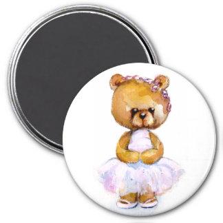 Imán minúsculo del oso del ballet