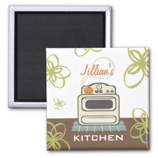 Imán moderno de la cocina de la estufa retra