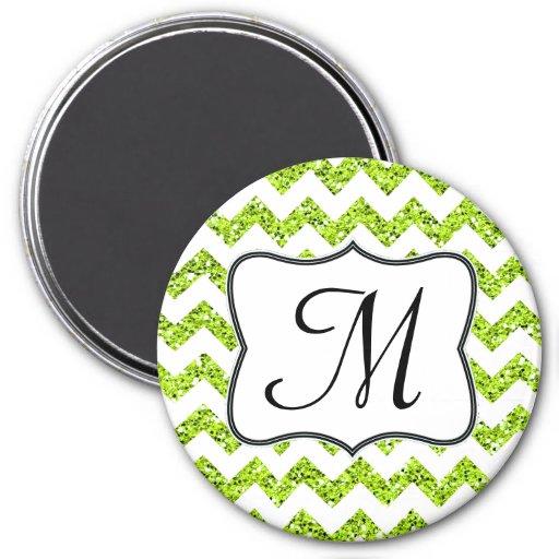Imán moderno de la inicial del monograma de Glitte