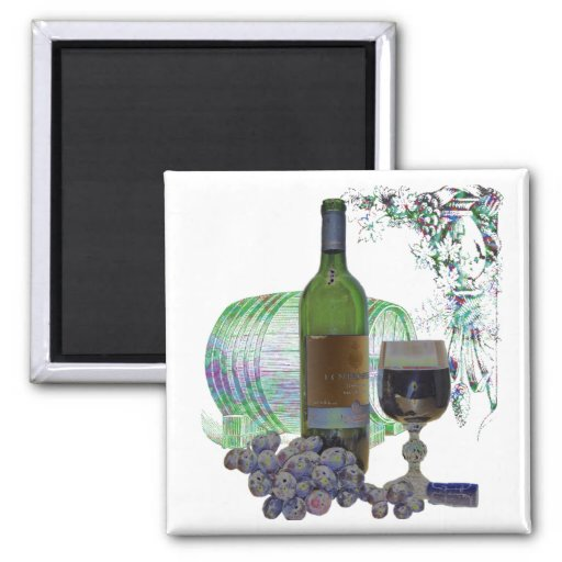 Imán moderno del arte del vino