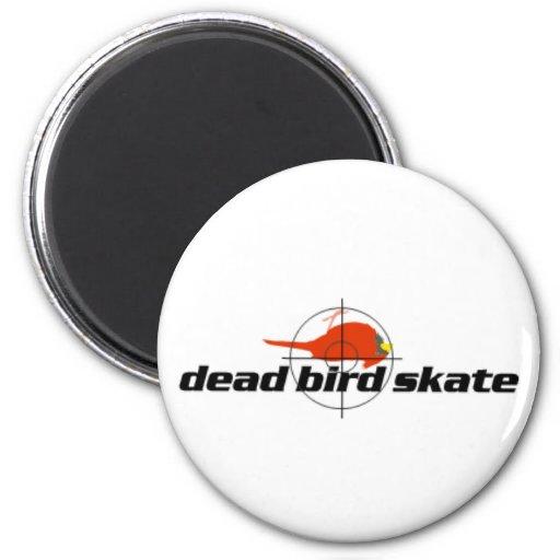 Imán muerto del patín del pájaro