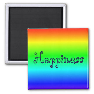 Imán multicolor de la felicidad
