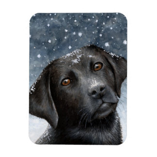 Imán negro de la foto de Labrador del perro 100