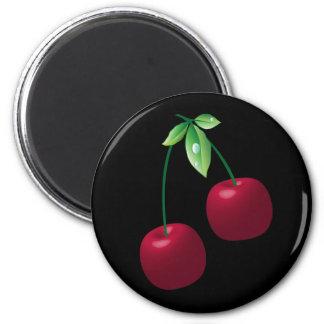 Imán negro de las cerezas