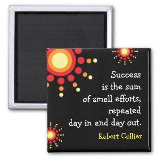 Imán negro de motivación de la cita del éxito