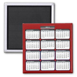Imán negro del calendario 2011
