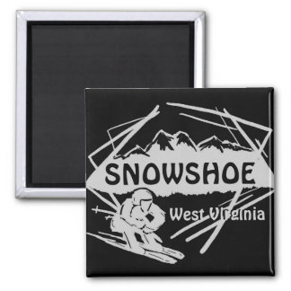 Imán negro gris del logotipo del esquí de Virginia