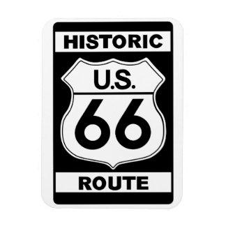 Imán negro histórico del premio de la ruta 66