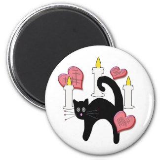 Imán negro lindo del encanto del amor del gato del