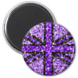 Imán negro púrpura BRITÁNICO del refrigerador de l