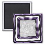 Imán negro púrpura de la plantilla del marco de n