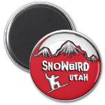 Imán negro rojo de la snowboard del tema de Utah d