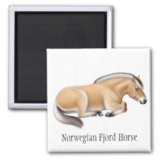 Imán noruego del caballo del fiordo