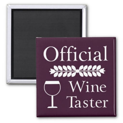 Imán oficial del cuadrado del catador del vino