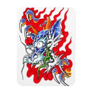 Imán oriental fresco del dragón y de las garras