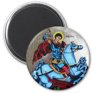 Imán ortodoxo del icono de San Jorge