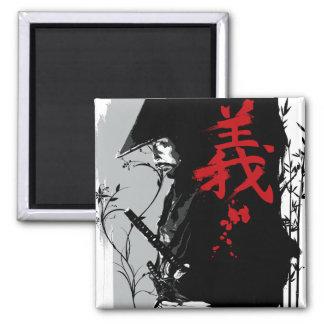 Imán oscuro del samurai del SOLDADO ENROLLADO EN E