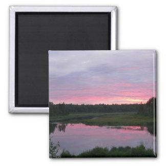 Imán pacífico de la puesta del sol