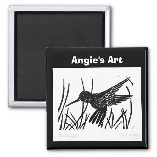 """Imán pájaro del tarareo"""" del arte de Angie del """""""