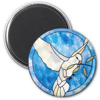 imán: paloma de la paz imán redondo 5 cm
