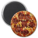 Imán para llevar del recordatorio de la pizza de s