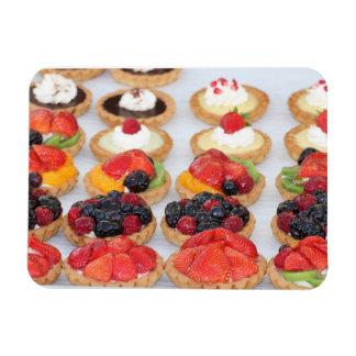 Imán, pasteles franceses w/fruit imán foto rectangular