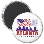 Imán patriótico de Atlanta Georgia