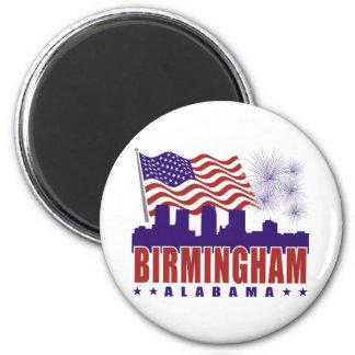 Imán patriótico de Birmingham Alabama