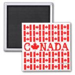 Imán patriótico de Canadá