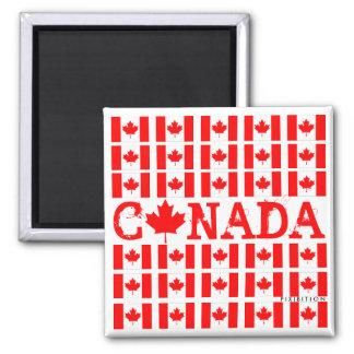 Imán patriótico de Canadá Imanes