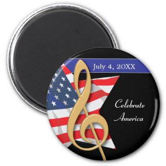 Imán patriótico de la música