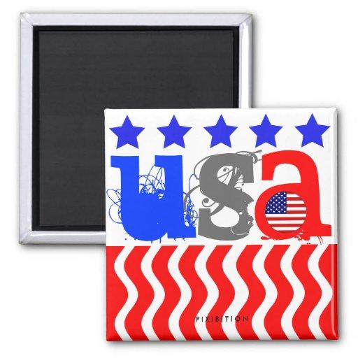 Imán patriótico de los E.E.U.U. América