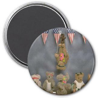 Imán patriótico de los osos del acróbata