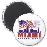 Imán patriótico de Miami la Florida