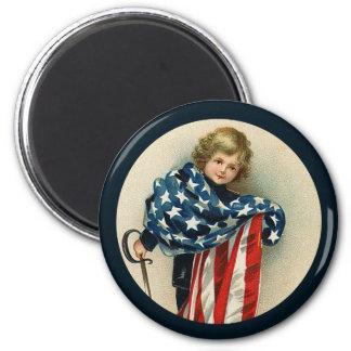Imán patriótico de Vintage_Boy y de Flag_Round