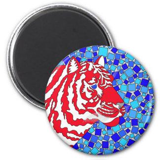 Imán patriótico del refrigerador del tigre de la
