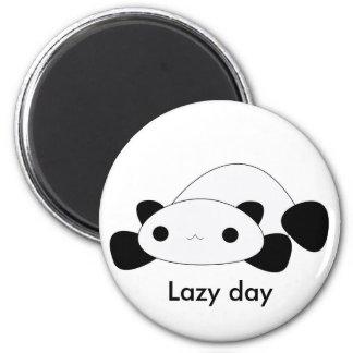 Imán perezoso de la panda del día del kawaii lindo