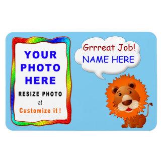Imán personalizado de la foto para los niños