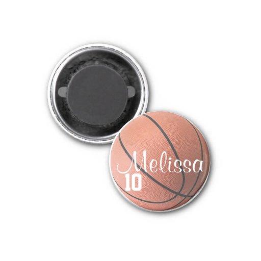 Imán personalizado del baloncesto