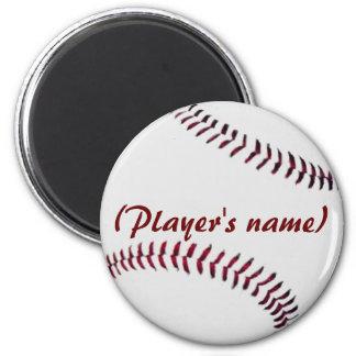 Imán personalizado del béisbol
