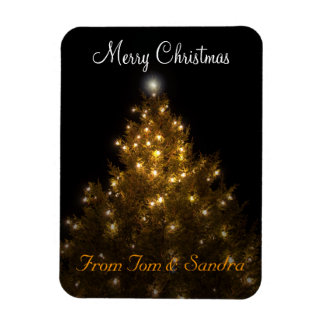 Imán personalizado del mensaje del navidad