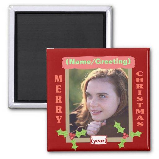 Imán personalizado del navidad de la foto