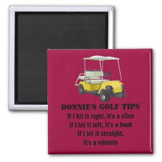 Imán personalizado del rojo del carro del golfista