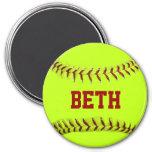 Imán personalizado del softball