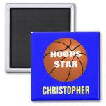 Imán personalizado estrella del baloncesto
