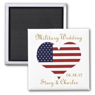 Imán personalizado favor militar del boda